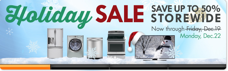 Storewide Savings on Thousands of Appliances