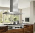 "IPB9 Gorgona 48"" x 27"" Stainless Steel Island Range Hood with Internal or External Blowers"