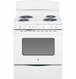 "JB450DFWW GE 30"" Free Standing Electric Range with 5.0 Cu. Ft. Oven Capacity - White"