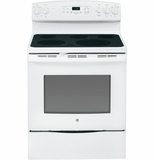 "JB695DFWW GE 30"" Free-Standing Electric Convection Range - White on White"