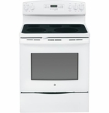 "JB740DFWW GE 30"" Free-Standing Electric Convection Range - White"