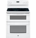 "JB850DFWW GE 30"" Free-Standing Electric Double Oven Range - White"