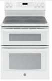 "JB860DJWW GE 30"" Free-Standing Electric Double Oven Convection Range - White"