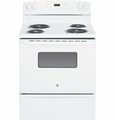 "JBS27DFWW GE 30"" Free Stranding 5.0 Cu. Ft. Electric Range - White"