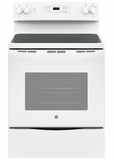 "JBS60DKWW GE 30"" Free-Standing Electric Range with 5.3 cu. ft. Capacity and Dual-Element Bake - White"