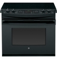 "JD750DFBB GE 30"" Drop-In Electric Convection Range - Black"