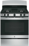 "JGB450REKSS GE 30"" Gas Range with 4 Sealed Burners 5.0 cu. ft. Oven and Precise Simmer Burner - Stainless Steel"