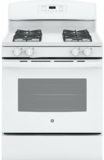 "JGB635DEKWW GE 30"" 5.0 Cu. Ft. Self-Cleaning Freestanding Gas Range With 4 Cooktop Burners - White"