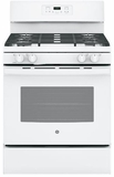 "JGB645DEKWW GE 30"" Freestanding Gas Range with Two-Piece Edge-to-Edge Cooktop - White"