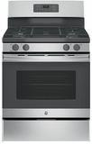 "JGB645SEKSS GE 30"" Freestanding Gas Range with Two-Piece Edge-to-Edge Cooktop - Stainless Steel"