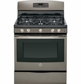 "JGB690EEFES GE� 30"" Free-Standing Gas Convection Range with 5 Sealed Burners - Slate"