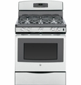 "JGB690SEFSS GE 30"" Free-Standing Gas Convection Range with 5 Sealed Burners  - Stainless Steel"