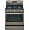 "JGB695EEFES GE 30"" Free-Standing Gas Convection Range with 17,000 BTU Power Boil Burner - Slate"