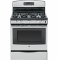 "JGB695SEFSS GE 30"" Free-Standing Gas Convection Range with 17,000 BTU Power Boil Burner - Stainless Steel"
