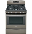 "JGB697EEHES GE 30"" Free-Standing Gas Convection Range with 17,000 BTU Power Boil Burner - Slate"