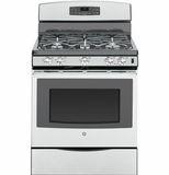 "JGB697SEHSS GE 30"" Free-Standing Gas Convection Range with 17,000 BTU Power Boil Burner - Stainless Steel"