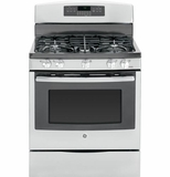 "JGB750SEFSS GE 30"" Free-Standing 5.6 Cu. Ft. Gas Convection Range with Power Boil Burner - Stainless Steel"