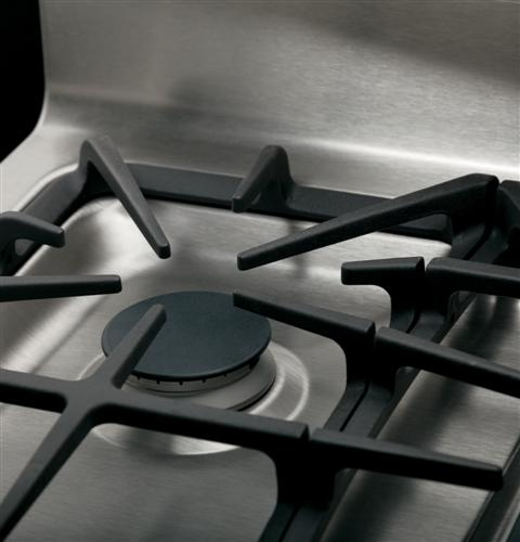 """JGB770SEFSS GE 30"""" Free-Standing Gas Convection 5.6 Cu. Ft. Range with 17,000 BTU Power Boil Burner - Stainless Steel"""