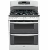 "JGB870SEFSS GE 30"" Free-Standing Gas Double Oven Range with Convection - Stainless Steel"