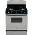 "JGBS10GEFSA GE 30"" Free-Standing 4.8 Cu. Ft. Gas Range with Porcelain Upswept Cooktop - Silver"