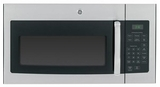 JNM3161RFSS GE 1.6 cu. ft. Over-the-Range Electric Microwave Oven with Recirculating Venting - Stainless Steel with Black Case