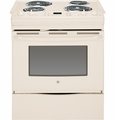 "JS250DFCC GE 30"" Electric Slide-in Range with Self Clean & 4.4 Cu. Ft. Oven - Bisque"