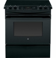 "JS630DFBB GE 30"" Slide-In Electric Range - Black"