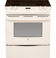 "JS630DFCC GE 30"" Slide-In Electric Range - Bisque"