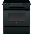 "JS750DFBB GE 30"" Slide-In Electric Convection Range - Black"