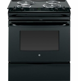 "JSS28DFBB GE 30"" Electric Slide-in Range with 4.4 Cu. Ft. Oven - Black"