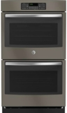 "JT3500EJES GE 30"" Built-In Double Wall Oven with Black Gloss Interior Finish - Slate"