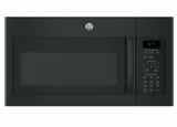 "JVM617DKBB 30"" GE 1.7 Cu. Ft. Over-the-Range Microwave Oven with 300 CFM and 2-Level Halogen Lights - Black"