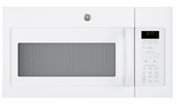"""JVM617DKWW 30"""" GE 1.7 Cu. Ft. Over-the-Range Microwave Oven with 300 CFM and 2-Level Halogen Lights - White"""