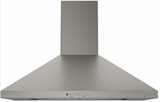 "JVW5301EJES GE 30"" Wall Mount Chimney Hood with 350 CFM Venting System - Slate"
