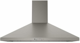 "JVW5361EJES GE 36"" Wall Mount Chimney Hood with 350 CFM Venting System - Slate"