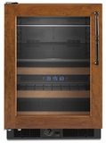 KBCO24LSBX KitchenAid Architect 22 Wine Bottle Beverage Center - Left Hand Door Swing - Custom Panel