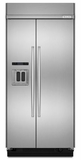 "KBSD602ESS KitchenAid 25.5 Cu. Ft. 42"" Width Built-In Side by Side Refrigerator - Stainless Steel"