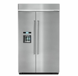 """KBSD618ESS 48"""" KitchenAid 29.5 Cu. Ft. Built-In Side-By-Side Refrigerator with ExtendFresh and SatinGlide Crispers - Stainless Steel"""