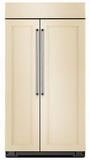 "KBSN602EPA KitchenAid 25.5 cu. ft. 42"" Width Built-In Side by Side Refrigerator with ExtendFresh Plus - Custom Panel"