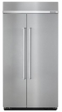 "KBSN602ESS KitchenAid 25.5 cu. ft. 42"" Width Built-In Side by Side Refrigerator - Stainless Steel"