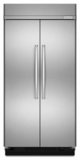 "KBSN608ESS KitchenAid 30.0 Cu. Ft 48"" Width Built-In Side by Side Refrigerator - Stainless Steel"