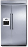 "KBUDT4265E Thermador 42"" Built-In Side-by-Side Refrigerator with External Ice Dispenser - Pro Handles - Stainless Steel"
