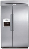 "KBUDT4865E Thermador 48"" Built-In Side-by-Side with External Ice Dispenser - Pro Handles - Stainless Steel"
