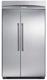 "KBUIT4265E Thermador 42"" Built-In Side-by-Side Refrigerator with Internal Ice Maker - Pro Handles - Stainless Steel"