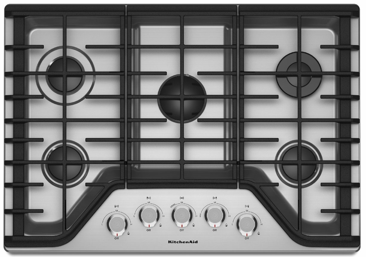 Ordinaire KCGS350ESS KitchenAid 30u0027u0027 5 Burner Gas Cooktop With Simmer Burner    Stainless Steel