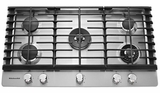 KCGS956ESS KitchenAid 36'' 5-Burner Gas Cooktop with Griddle & Dual Ring Burner - Stainless Steel