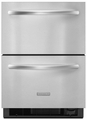 "KDDC24CVS KitchenAid Architect 24"" Double Drawer Refrigerator - Stainless"
