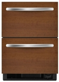 "KDDO24CVX KitchenAid Architect 24"" Double Drawer Refrigerator - Custom Panel"