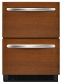 "KDDO24RVX KitchenAid Architect 24"" Double Drawer Refrigerator - Panel w/ Aluminum Trim"