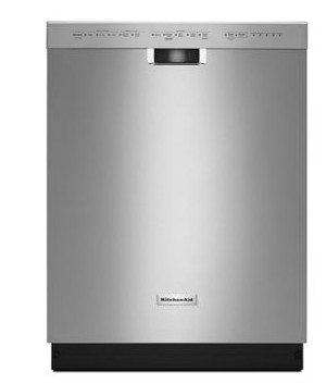 KDFE104DSS KitchenAid 24'' 6-Cycle/5-Option Built-In Dishwasher with ProWash and Heat Dry Option - Stainless Steel